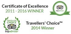 Tripadvisor Awards 2011 - 2016